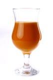 棕色汁液的杯 免版税图库摄影