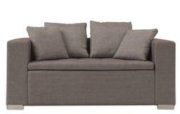 棕色沙发 免版税库存图片