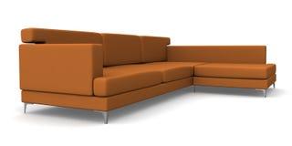 棕色沙发 皇族释放例证
