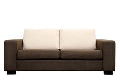 棕色沙发 免版税图库摄影