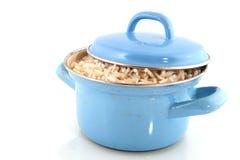 棕色烹调米 免版税库存图片