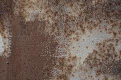 棕色生锈的金属纹理  免版税库存照片