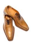 棕色男性鞋子 免版税库存图片