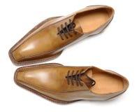 棕色男性鞋子 库存图片