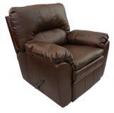 棕色皮革可躺式椅 免版税库存图片