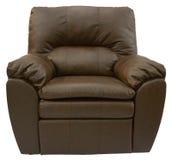 棕色皮革可躺式椅 免版税库存照片