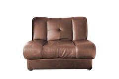 棕色皮革沙发 库存照片