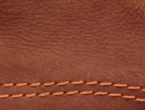 棕色皮革绒面革 免版税库存图片
