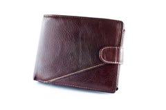 棕色皮革钱包 免版税库存照片