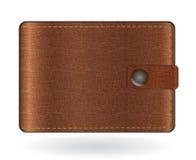 棕色皮革钱包 向量例证