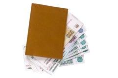 棕色皮革货币钱包 库存照片