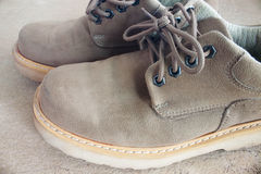 棕色皮鞋 库存图片