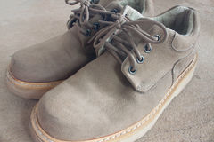 棕色皮鞋 免版税图库摄影