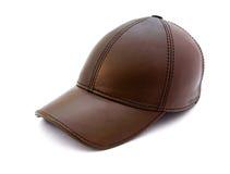 棕色盖帽皮革 免版税库存照片