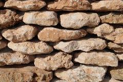 棕色石头墙壁  免版税图库摄影