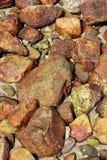 棕色石头背景 免版税图库摄影