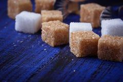 棕色碳水化合物饮食糖不健康的白色 图库摄影