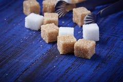 棕色碳水化合物饮食糖不健康的白色 库存照片