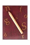 棕色笔记本 库存照片