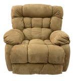 棕色纤维微可躺式椅摇摆物 免版税库存照片
