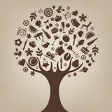 棕色结构树向量 库存图片