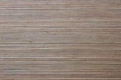 棕色自然席子纹理  免版税库存照片