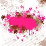 棕色花卉模式粉红色 免版税图库摄影