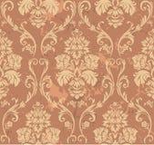 棕色花卉模式 库存照片