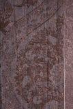 棕色花卉纹理葡萄酒 库存图片