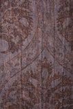棕色花卉纹理葡萄酒 免版税库存图片