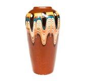 棕色花瓶 免版税库存图片