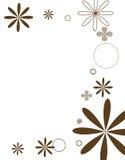棕色花mod系列 免版税图库摄影
