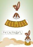 棕色装饰东部兔子 免版税库存照片