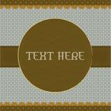 棕色设计小点框架短上衣葡萄酒 免版税图库摄影