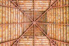 棕色详细的屋顶 免版税库存图片