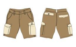 棕色货物裤子 免版税库存照片