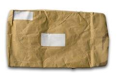 棕色起皱纹的信包老纸张 免版税库存照片