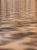 棕色超现实的水 免版税库存照片