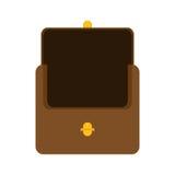 棕色钱包象 免版税库存照片