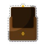 棕色钱包象 库存照片
