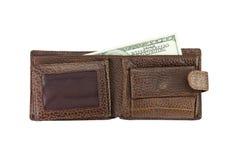棕色钱包 免版税库存图片
