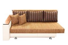 棕色长沙发 库存图片