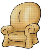 棕色长沙发 皇族释放例证