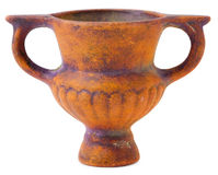 棕色陶瓷微型花瓶 图库摄影