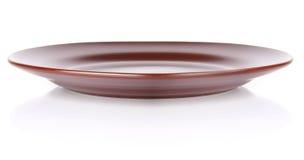 棕色陶瓷牌照 免版税图库摄影
