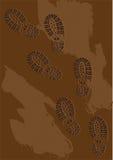 在泥的脚印 皇族释放例证