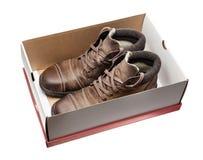棕色鞋子 免版税库存图片