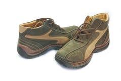 棕色鞋子 免版税库存照片