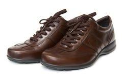 棕色鞋子 免版税图库摄影