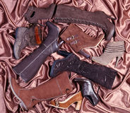 棕色鞋类 库存图片